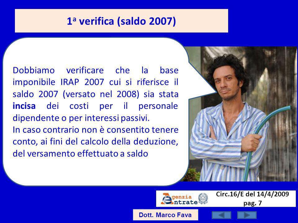 1a verifica (saldo 2007)