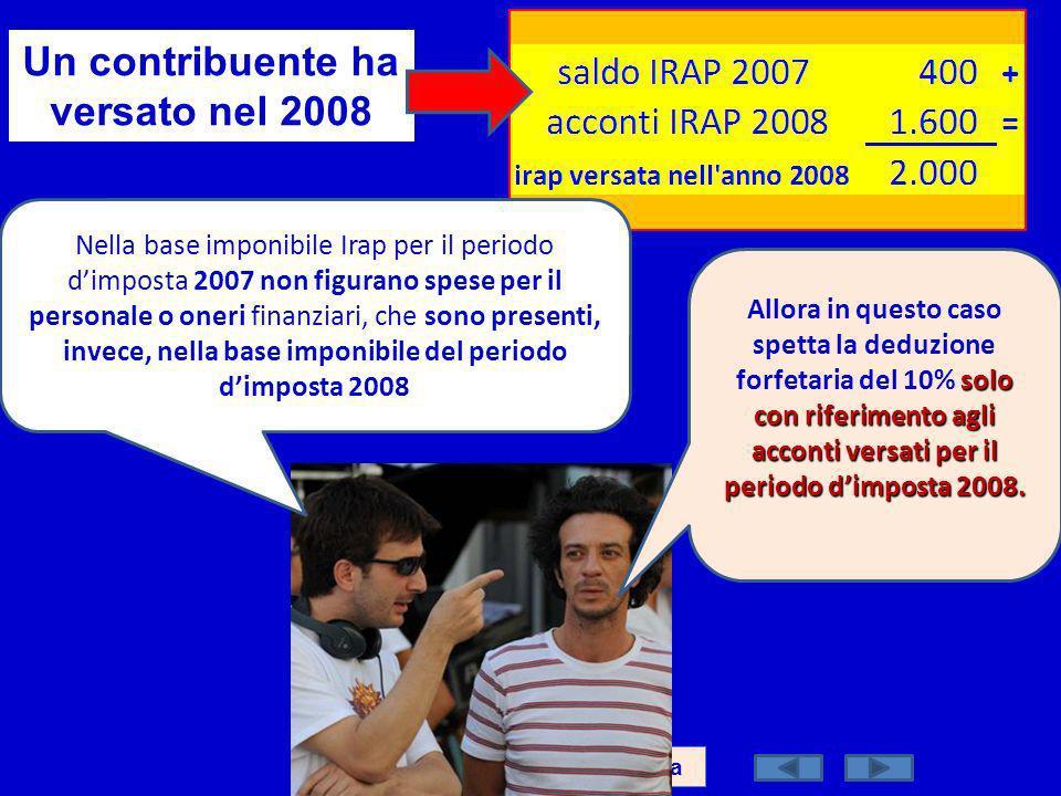 Un contribuente ha versato nel 2008