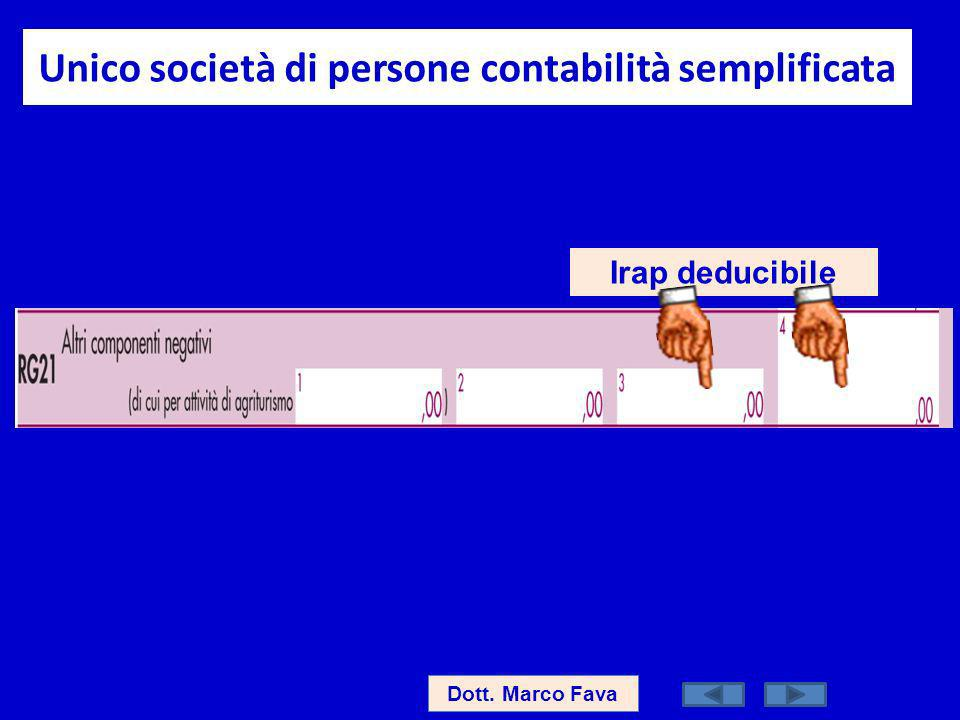 Unico società di persone contabilità semplificata