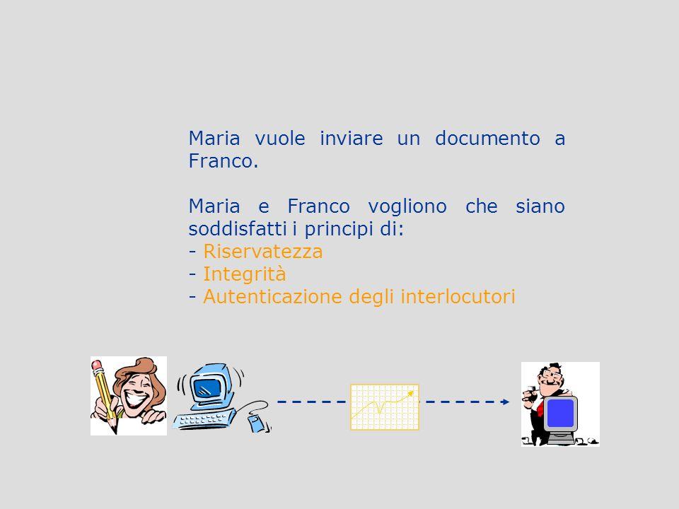 Maria vuole inviare un documento a Franco.
