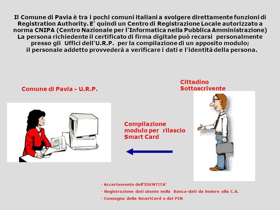 Cittadino Sottoscrivente Comune di Pavia - U.R.P.