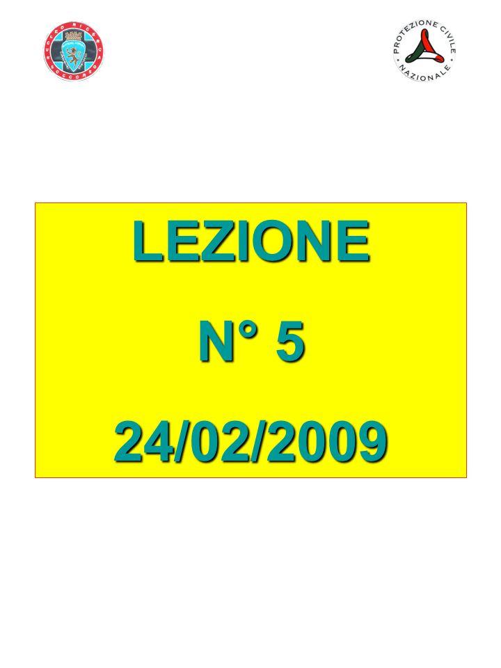LEZIONE N° 5 24/02/2009