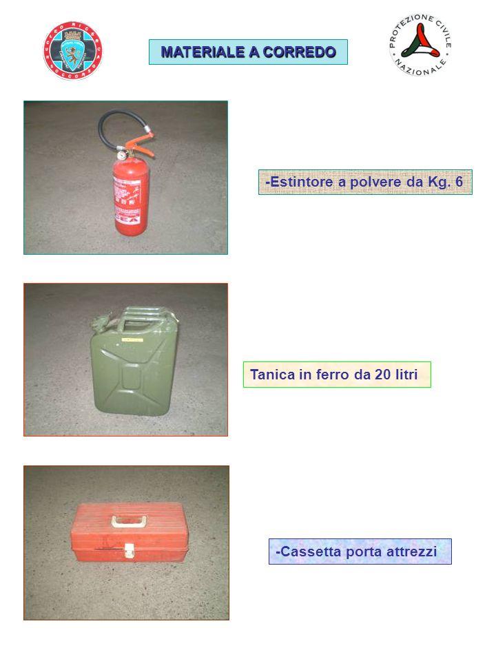 MATERIALE A CORREDO -Estintore a polvere da Kg. 6.