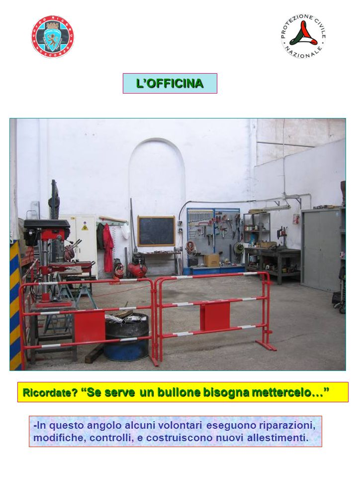 L'OFFICINA Ricordate Se serve un bullone bisogna mettercelo…