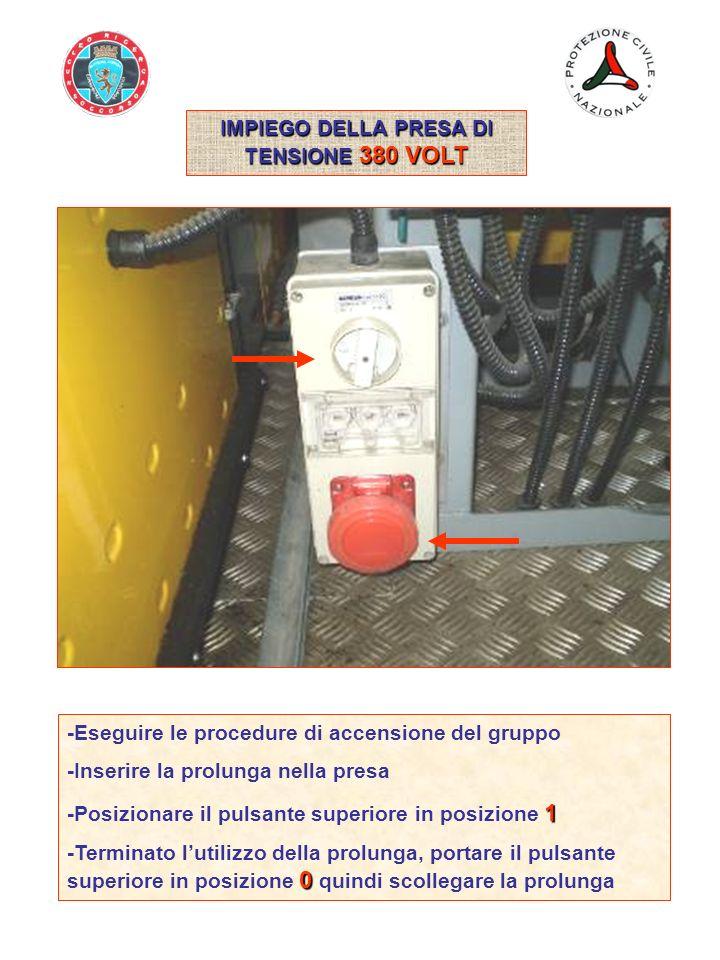 IMPIEGO DELLA PRESA DI TENSIONE 380 VOLT