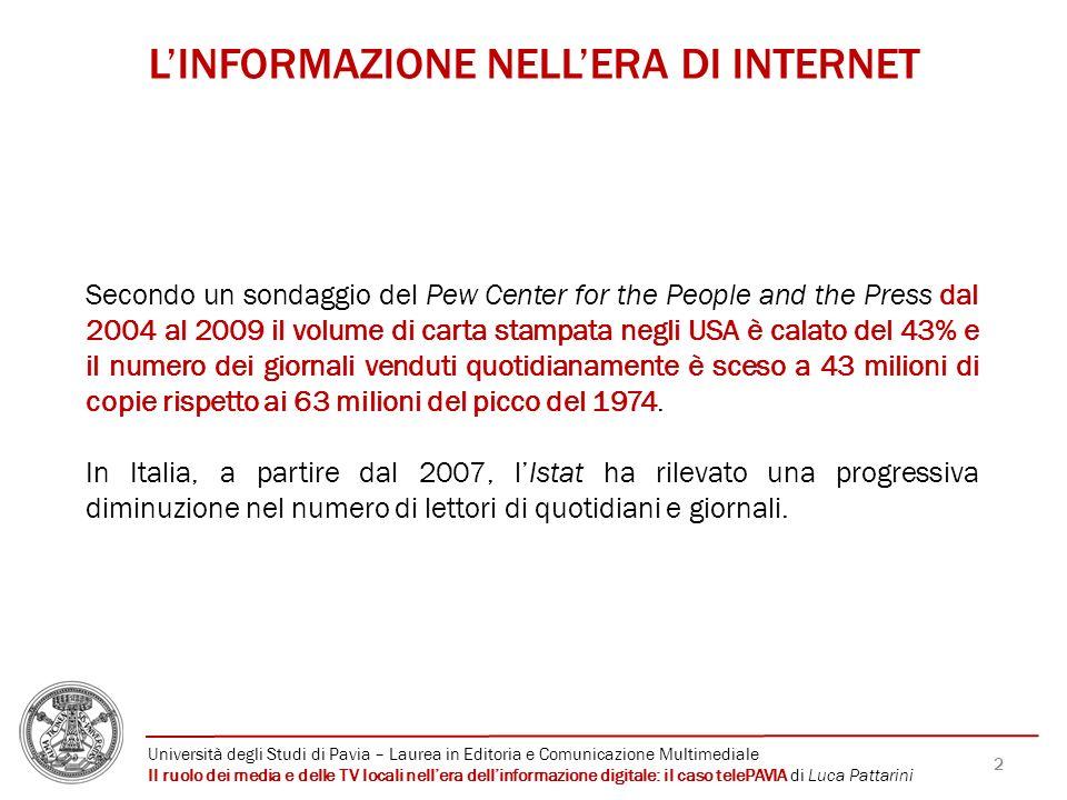 L'INFORMAZIONE NELL'ERA DI INTERNET
