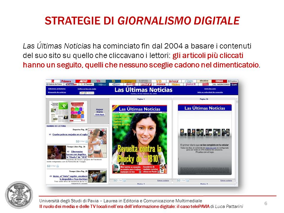 STRATEGIE DI GIORNALISMO DIGITALE