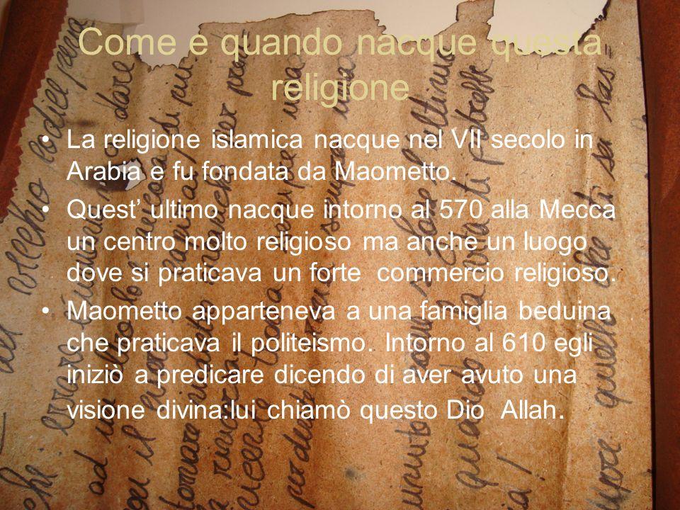Come e quando nacque questa religione