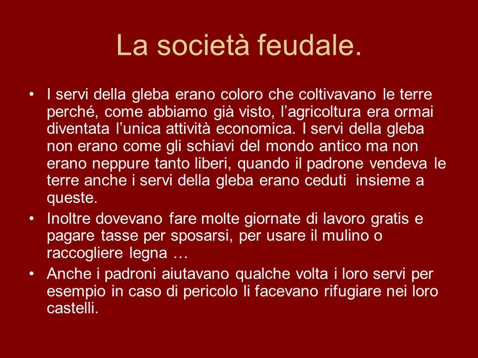 La società feudale.