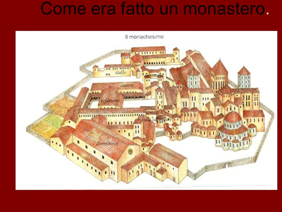 Come era fatto un monastero.