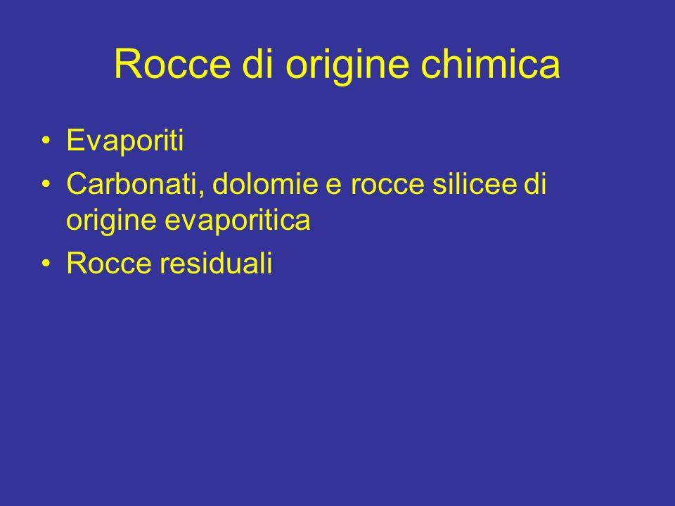 Rocce di origine chimica