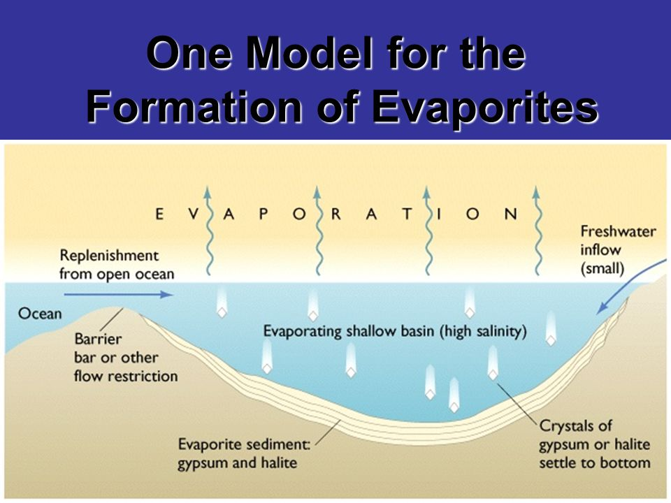 One Model for the Formation of Evaporites