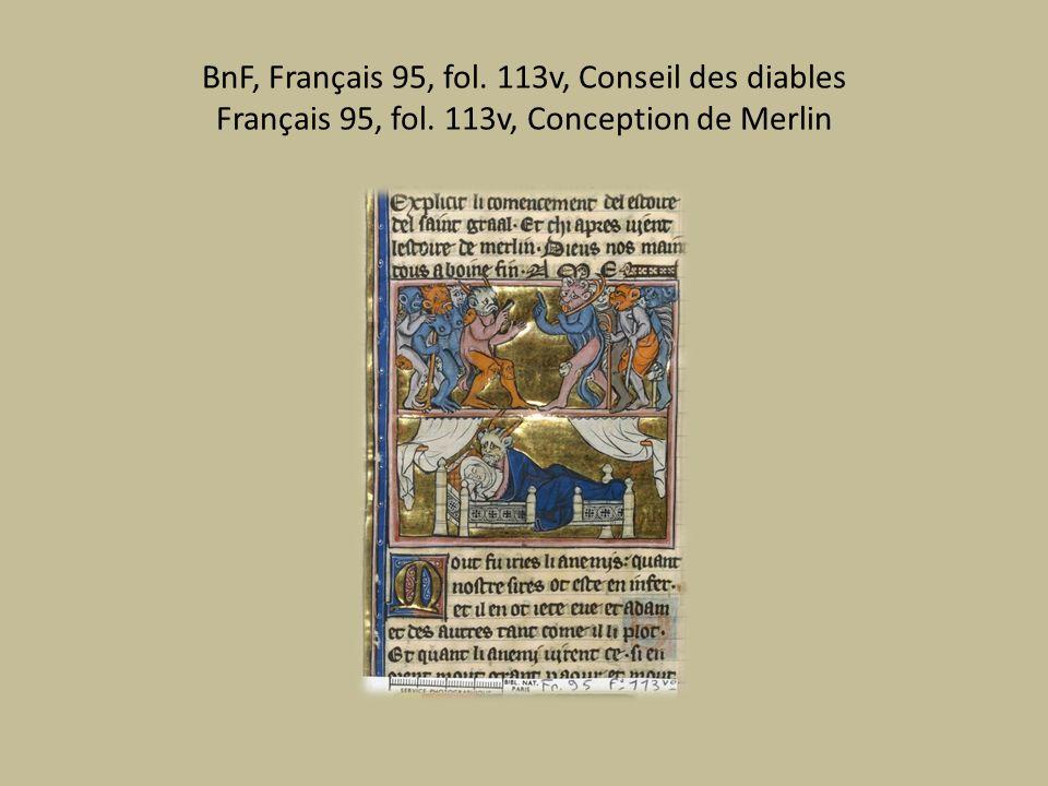 BnF, Français 95, fol. 113v, Conseil des diables Français 95, fol