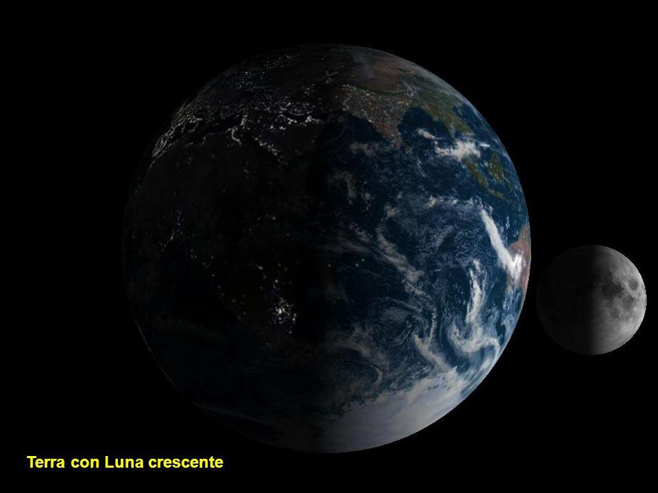 Terra con Luna crescente