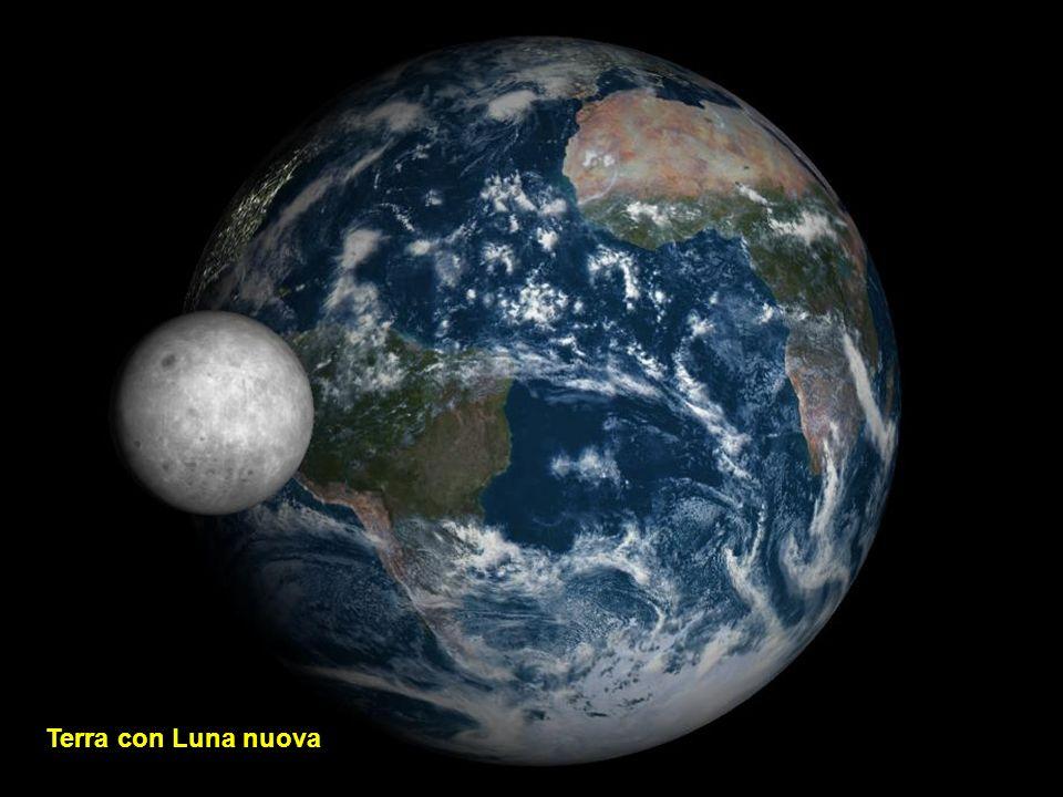 Terra con Luna nuova