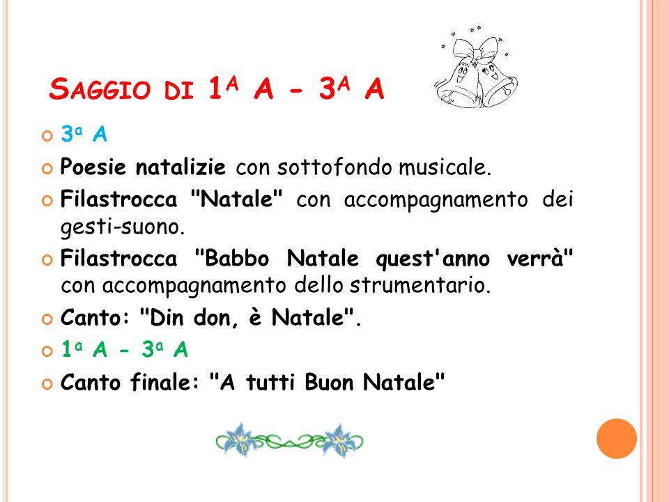 Saggio di 1a A - 3a A 3a A Poesie natalizie con sottofondo musicale.