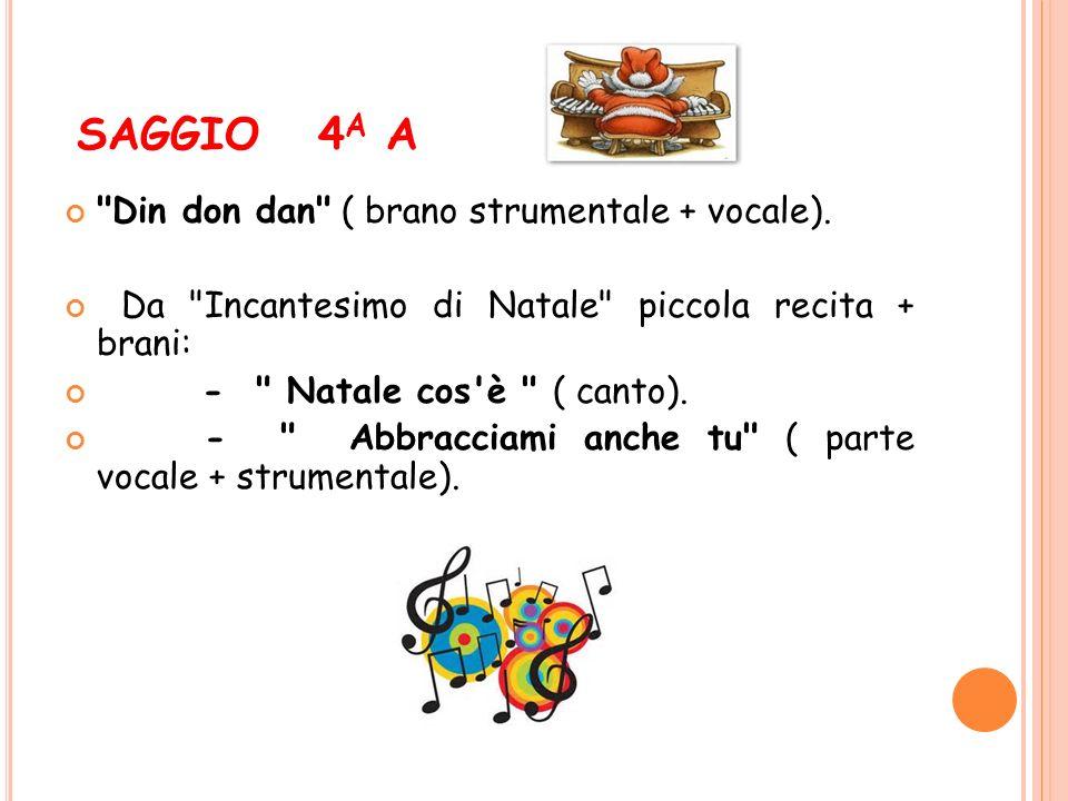 SAGGIO 4a A Din don dan ( brano strumentale + vocale).
