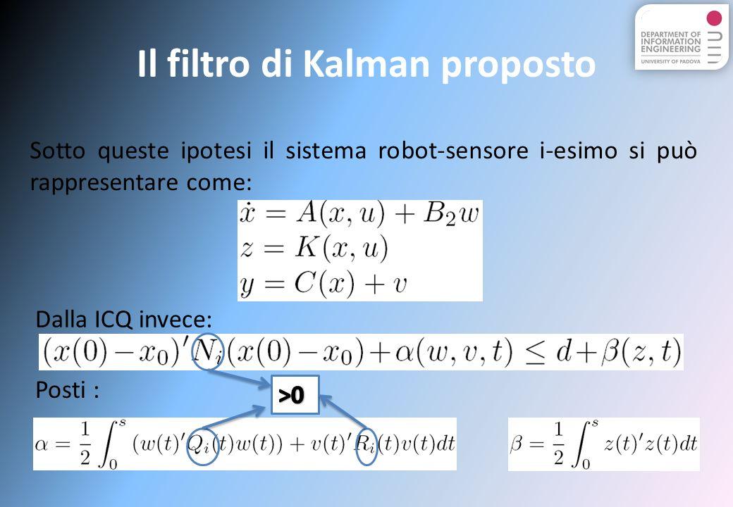 Il filtro di Kalman proposto