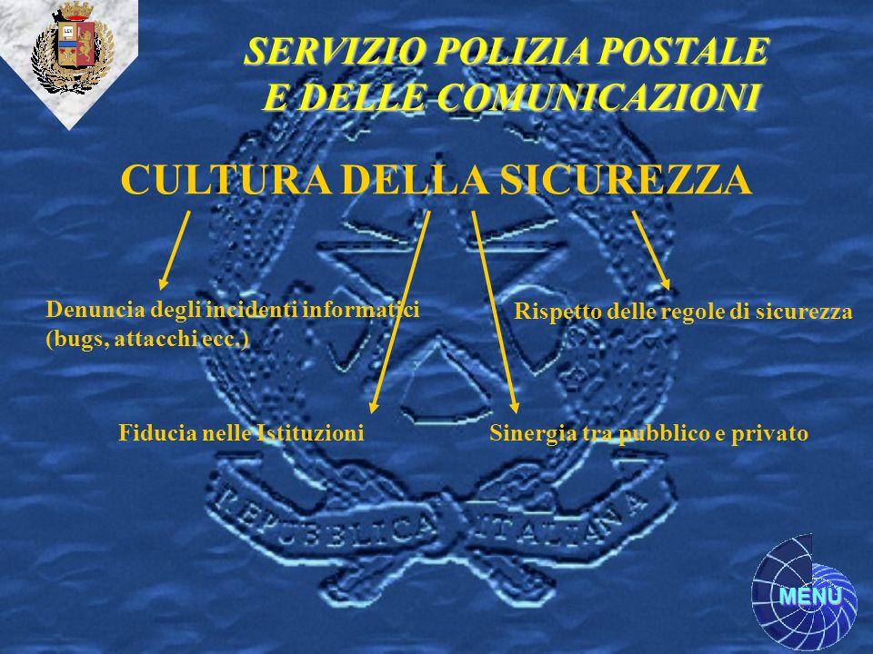 SERVIZIO POLIZIA POSTALE CULTURA DELLA SICUREZZA