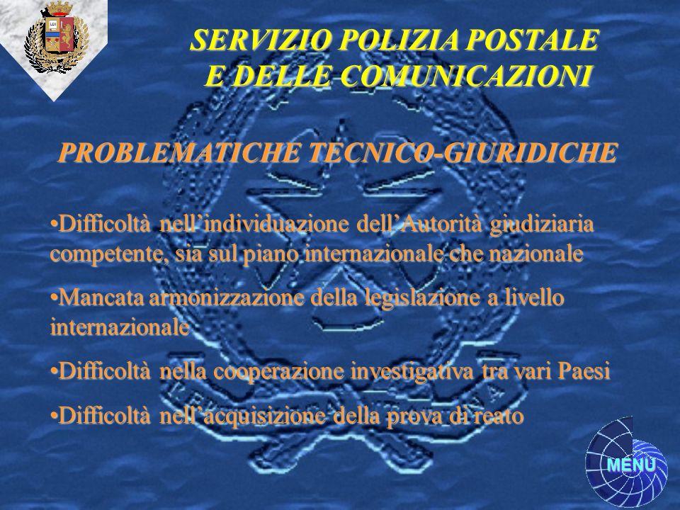 SERVIZIO POLIZIA POSTALE PROBLEMATICHE TECNICO-GIURIDICHE