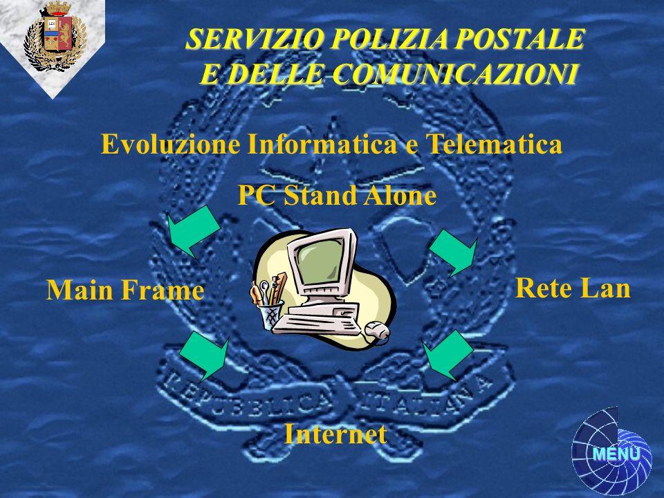 SERVIZIO POLIZIA POSTALE Evoluzione Informatica e Telematica
