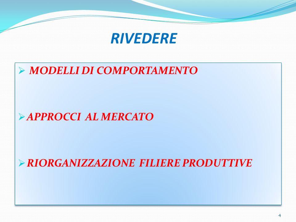 RIVEDERE MODELLI DI COMPORTAMENTO APPROCCI AL MERCATO