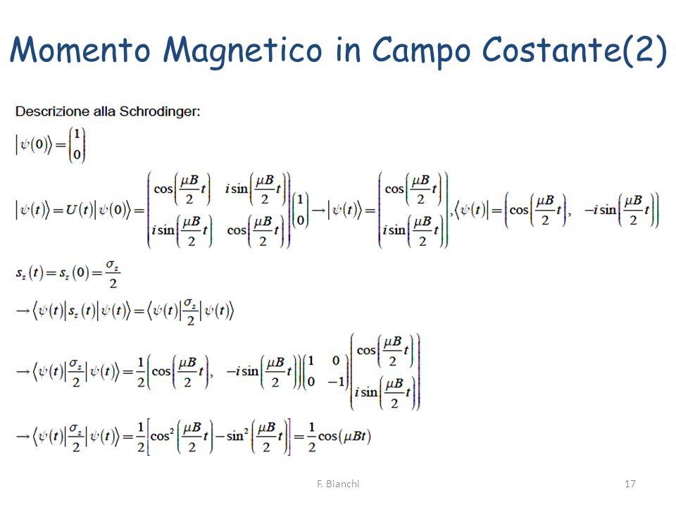 Momento Magnetico in Campo Costante(2)