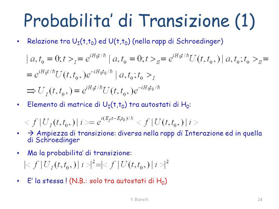 Probabilita' di Transizione (1)