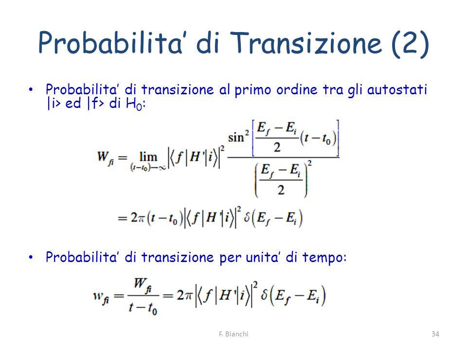 Probabilita' di Transizione (2)