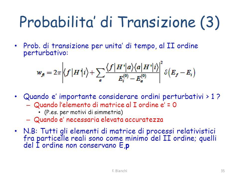 Probabilita' di Transizione (3)