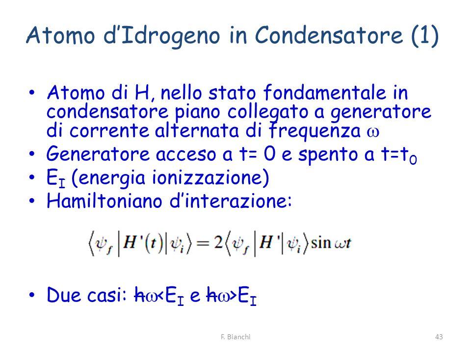 Atomo d'Idrogeno in Condensatore (1)