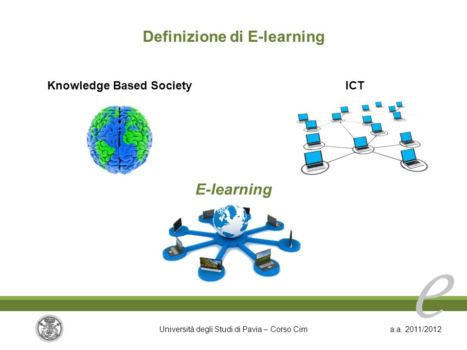 Definizione di E-learning Knowledge Based Society