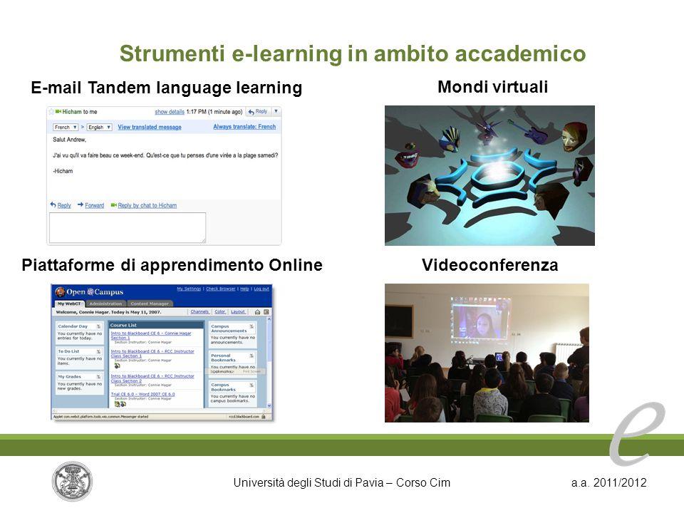 Strumenti e-learning in ambito accademico