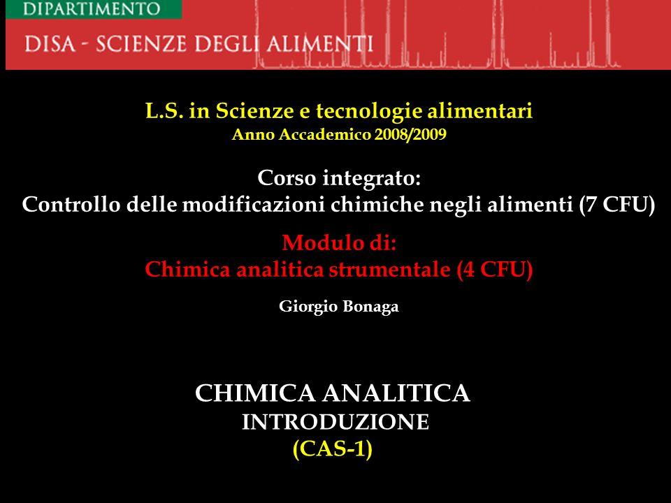 CHIMICA ANALITICA INTRODUZIONE (CAS-1)