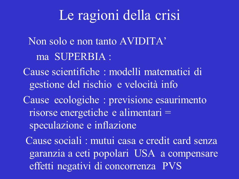 Le ragioni della crisi