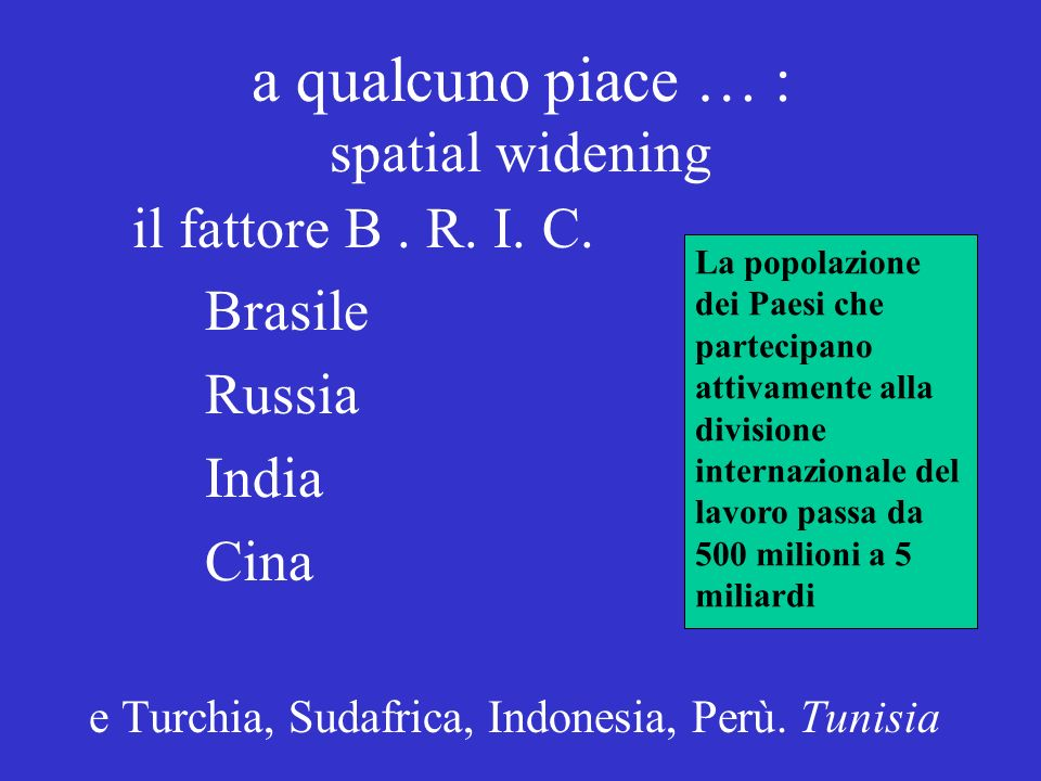 a qualcuno piace … : spatial widening