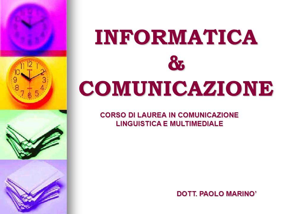 INFORMATICA & COMUNICAZIONE