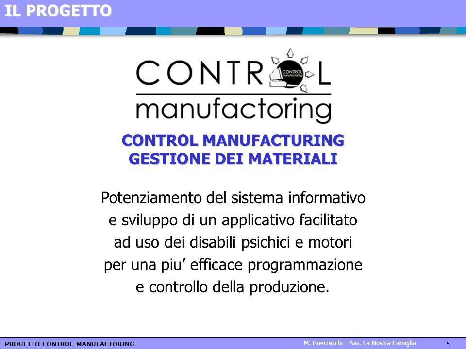 CONTROL MANUFACTURING GESTIONE DEI MATERIALI