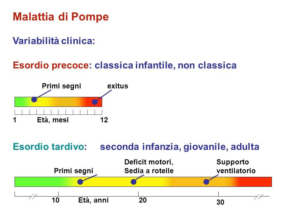 Malattia di Pompe Variabilità clinica:
