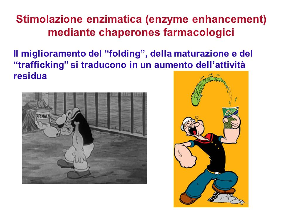 Stimolazione enzimatica (enzyme enhancement) mediante chaperones farmacologici