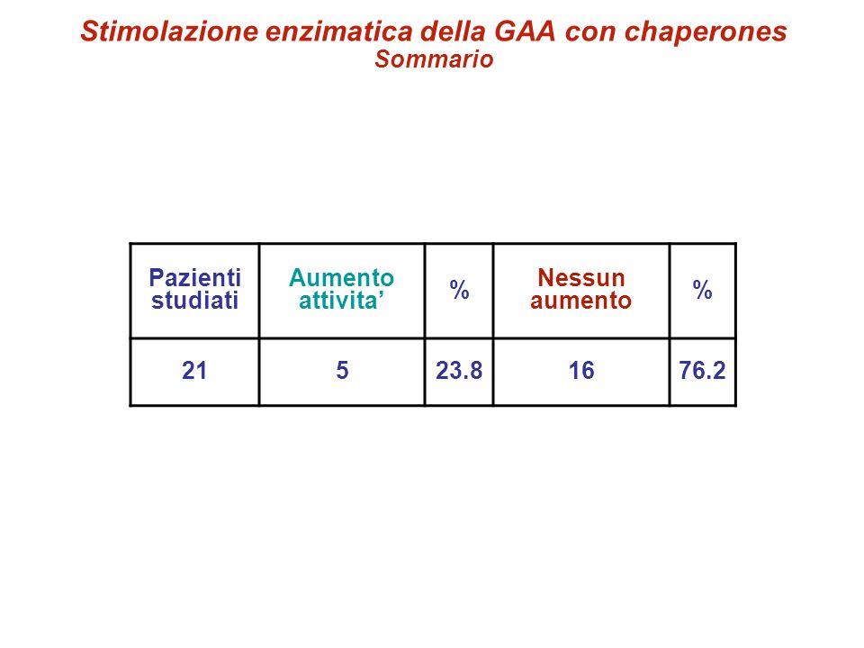 Stimolazione enzimatica della GAA con chaperones