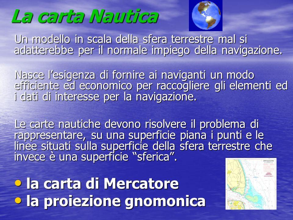 La carta Nautica la carta di Mercatore la proiezione gnomonica