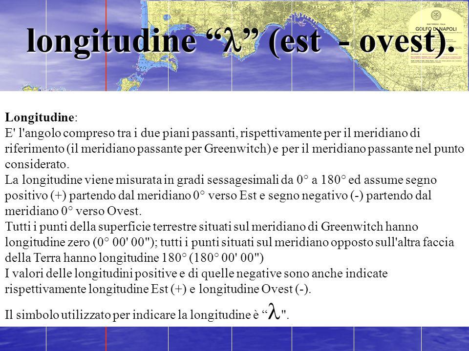 longitudine l (est - ovest).