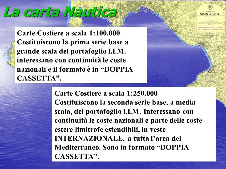 La carta Nautica Carte Costiere a scala 1:100.000