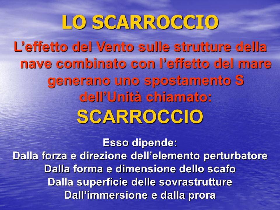 LO SCARROCCIO SCARROCCIO