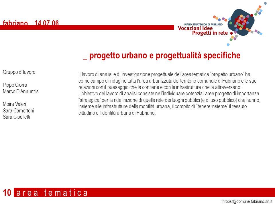 _ progetto urbano e progettualità specifiche