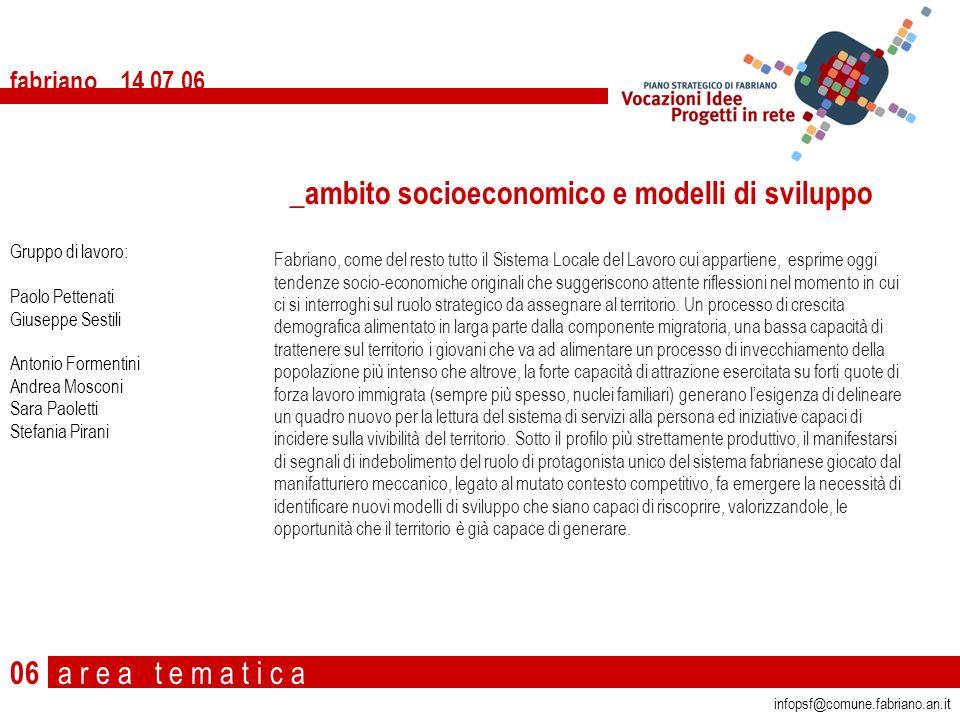 _ambito socioeconomico e modelli di sviluppo