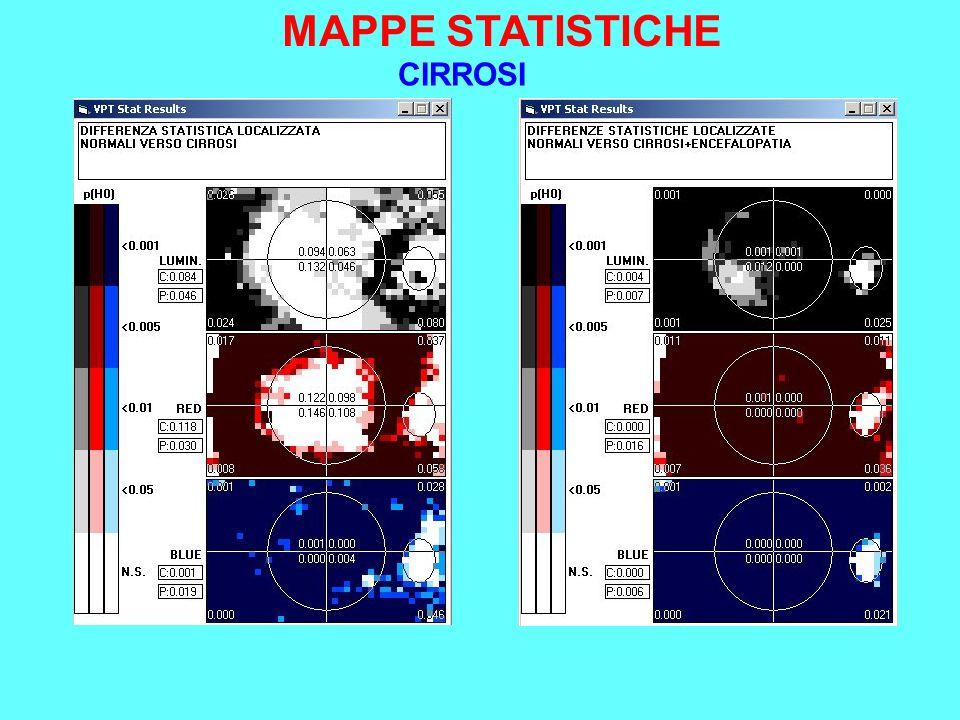 MAPPE STATISTICHE CIRROSI