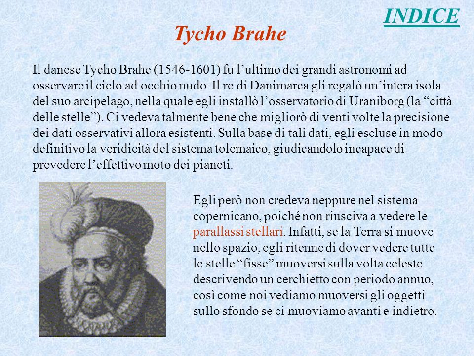 INDICE Tycho Brahe.