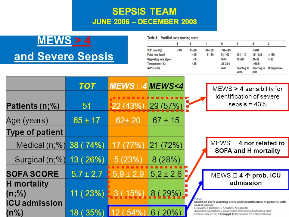 SEPSIS TEAM JUNE 2006 – DECEMBER 2008